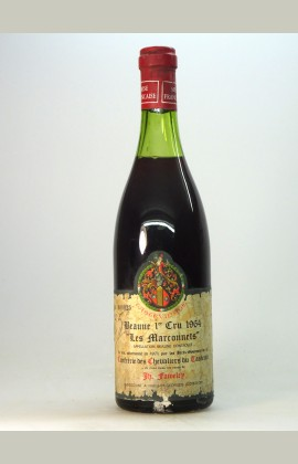 Beaune 1er Cru Marconnets, Tastevinage, Faiveley, 1964